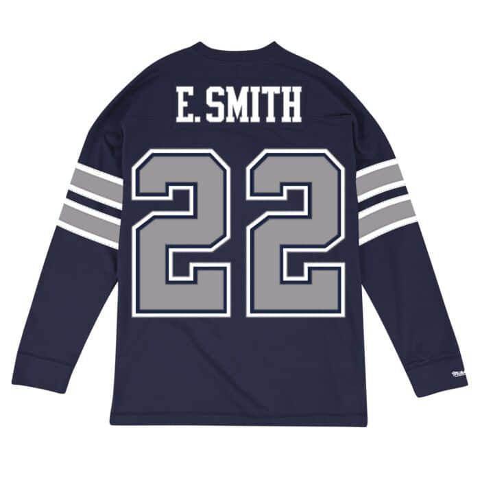 sale retailer 34e58 ef0f9 Emmitt Smith Name & Number Longsleeve Tee Dallas Cowboys