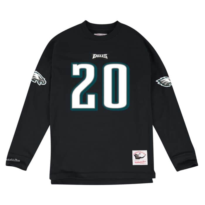 newest 260cd 3224b Brian Dawkins Name & Number Longsleeve Tee Philadelphia ...