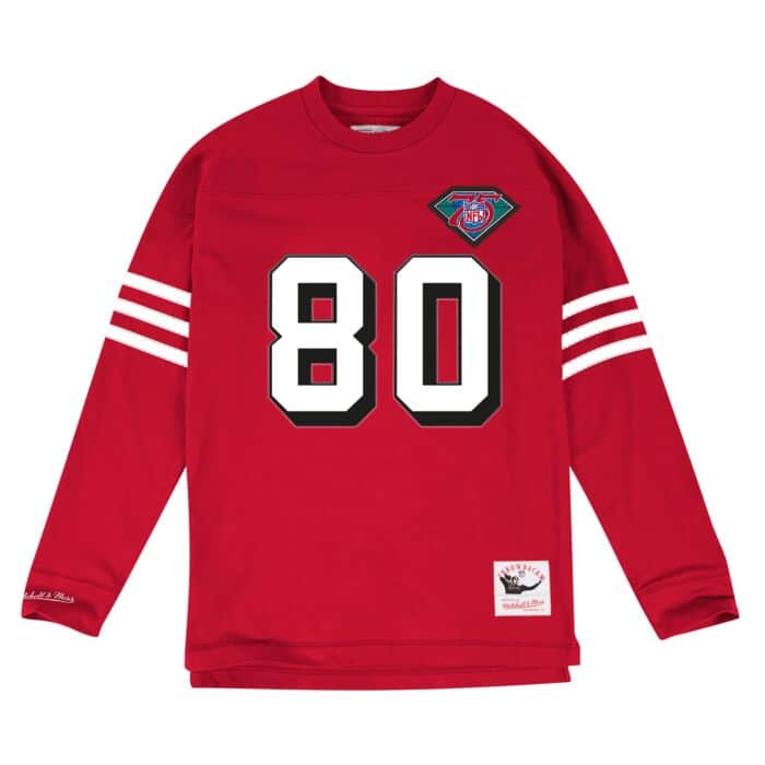 wholesale dealer c4abb 499e7 Jerry Rice Name & Number Longsleeve Tee San Francisco 49ers ...