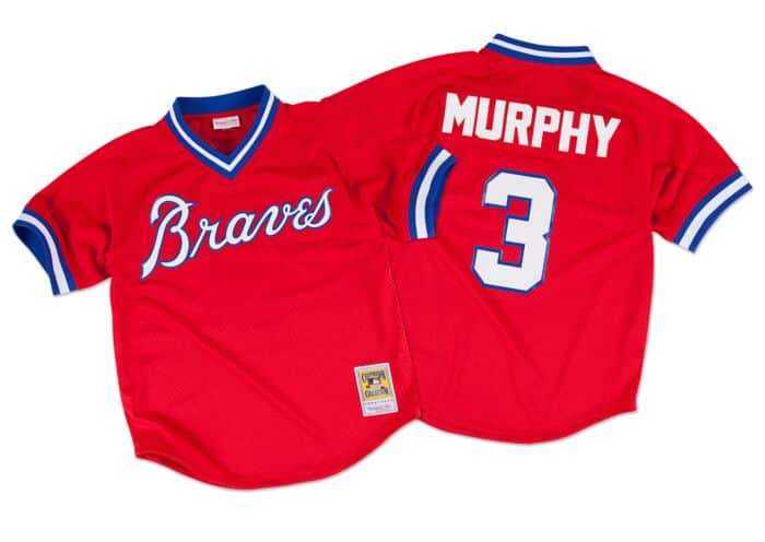 new style d92d4 b8a16 Dale Murphy 1980 Authentic Mesh BP Jersey Atlanta Braves