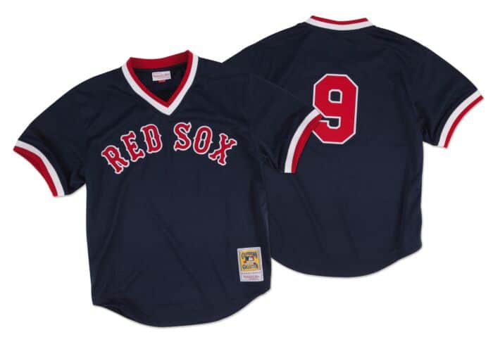 the latest 92fe2 f047b Ted Williams 1990 Authentic Mesh BP Jersey Boston Red Sox