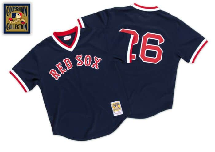 brand new e4a99 be4ac Wade Boggs 1992 Authentic Mesh BP Jersey Boston Red Sox ...