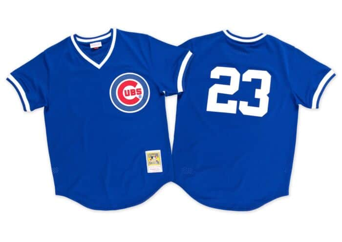 online retailer 3d1b8 126c6 Ryne Sandberg 1984 Authentic Mesh BP Jersey Chicago Cubs