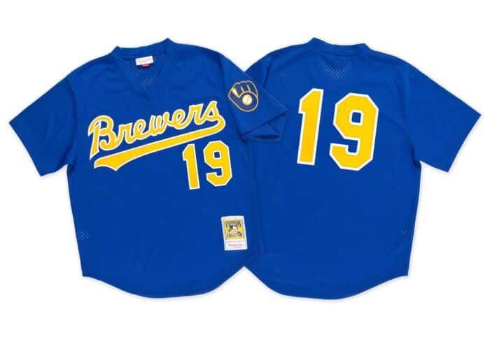 free shipping e8d96 a090d Robin Yount 1991 Authentic Mesh BP Jersey Milwaukee Brewers