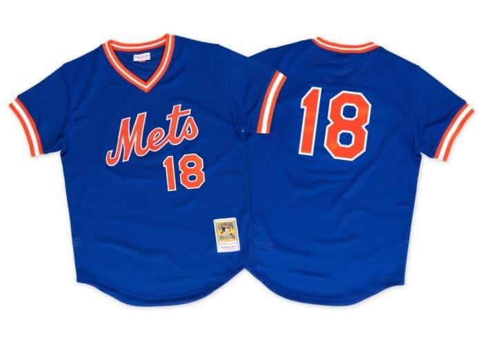 quality design b915e 92ddf Darryl Strawberry 1986 Authentic Mesh BP Jersey New York Mets