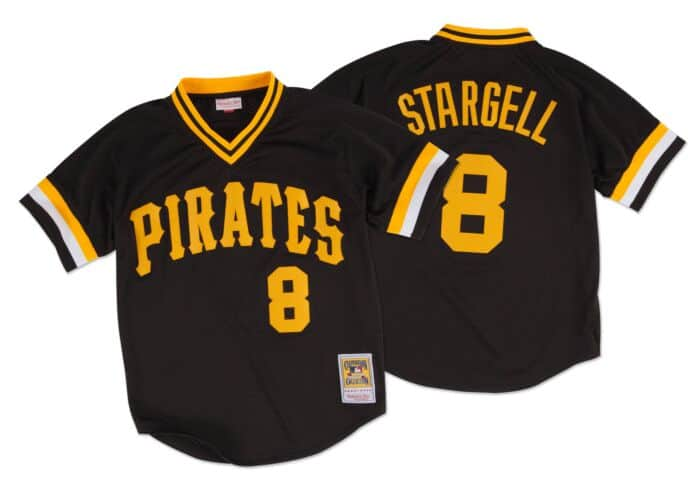 size 40 a4178 1de0c Willie Stargell 1982 Authentic Mesh BP Jersey Pittsburgh Pirates