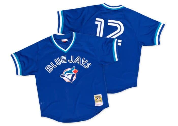 cheaper 4cf82 a8d53 Roberto Alomar 1993 Authentic Mesh BP Jersey Toronto Blue Jays