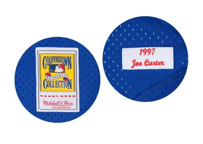 new product 6974a efa87 Joe Carter 1997 Authentic Mesh BP Jersey Toronto Blue Jays