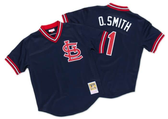 lowest price 324a5 d225f Ozzie Smith 1994 Authentic Mesh BP Jersey St. Louis Cardinals