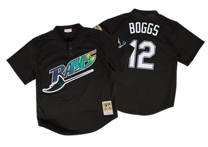 huge discount ab522 88067 Wade Boggs 1998 Authentic Mesh BP Jersey Tampa Bay Devil Rays
