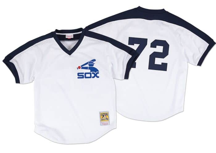 buy popular 5c539 2b7b3 Carlton Fisk 1981 Authentic Mesh BP Jersey Chicago White Sox