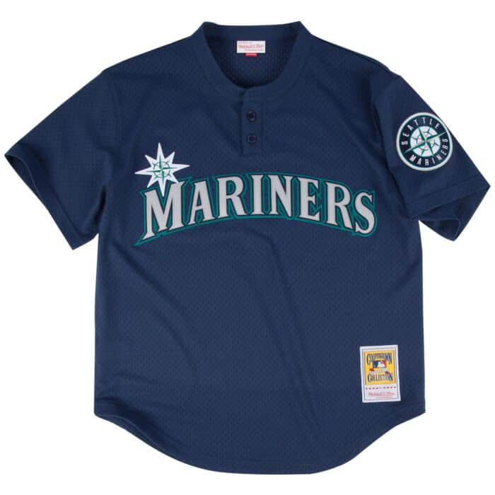detailed look 525a1 11592 Ken Griffey Jr. 1995 Authentic Mesh BP Jersey Seattle Mariners