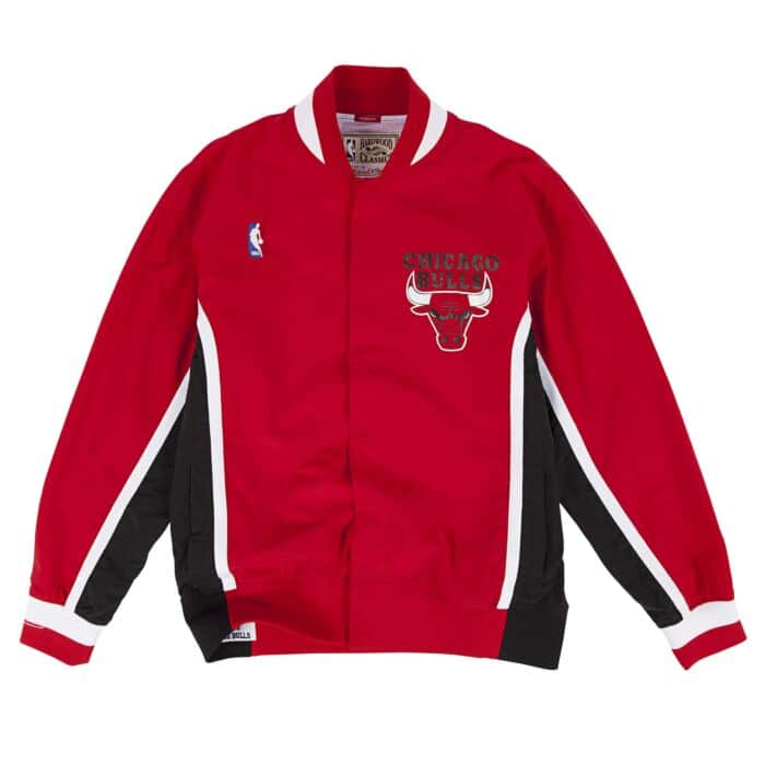 52879acc5b51b 1992-93 Authentic Warm Up Jacket Chicago Bulls Mitchell & Ness Nostalgia Co.