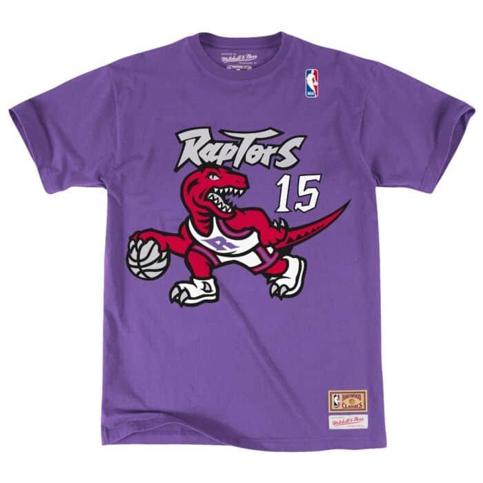 quality design 72893 9460a Name & Number Tee Toronto Raptors Vince Carter