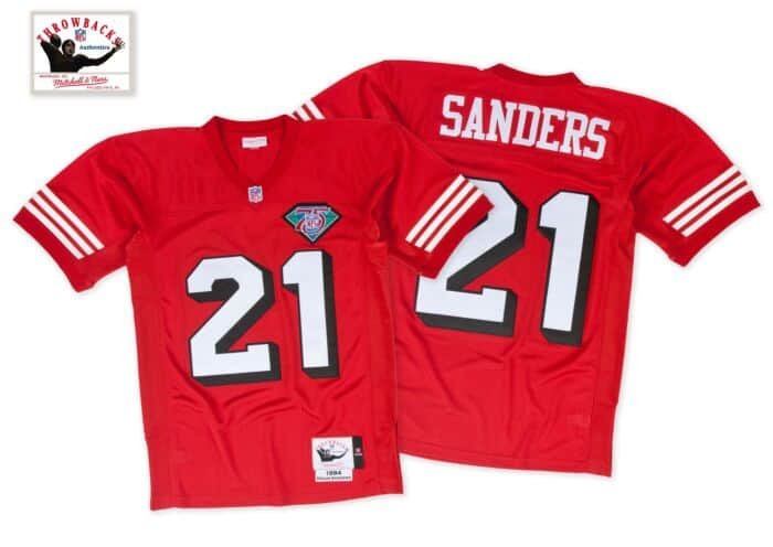 various colors 80a1b 2b642 Deion Sanders 1994 Authentic Jersey San Francisco 49ers ...