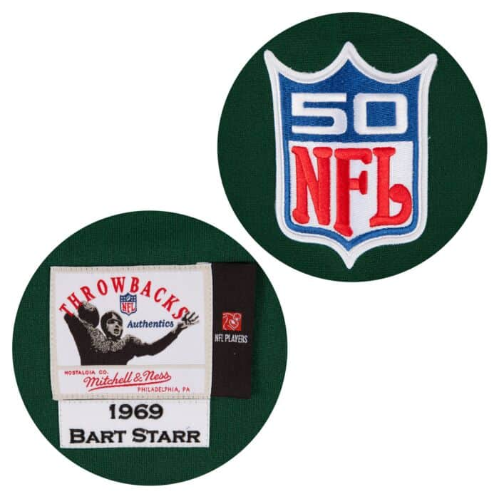 the best attitude c2e82 49832 Bart Starr 1969 Authentic Jersey Green Bay Packers