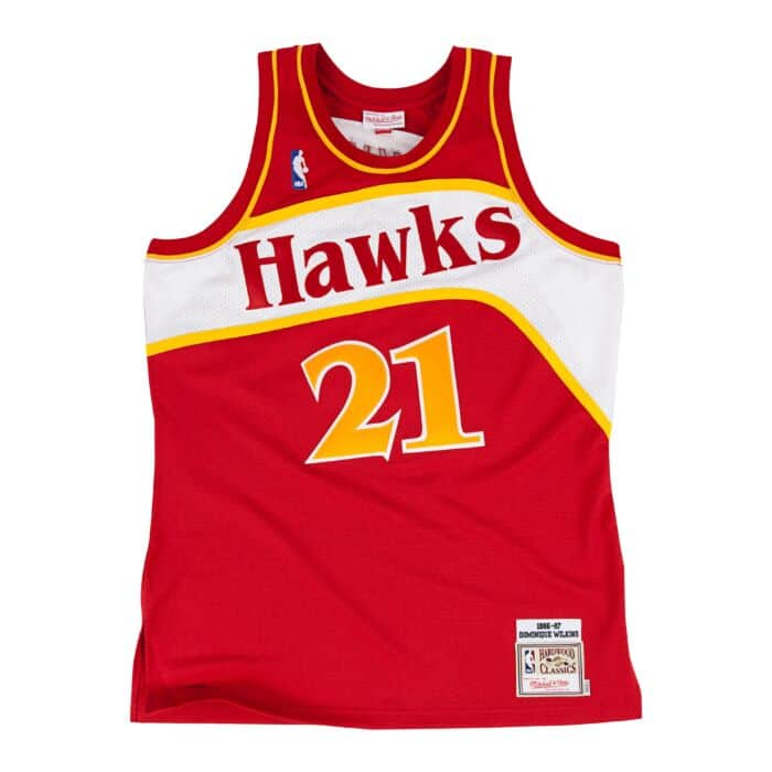 online store 80e92 f62b3 Dominique Wilkins 1986-87 Authentic Jersey Atlanta Hawks