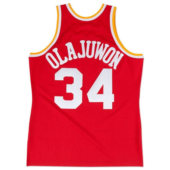 timeless design a7e23 eceb8 Hakeem Olajuwon 1993-94 Authentic Jersey Houston Rockets