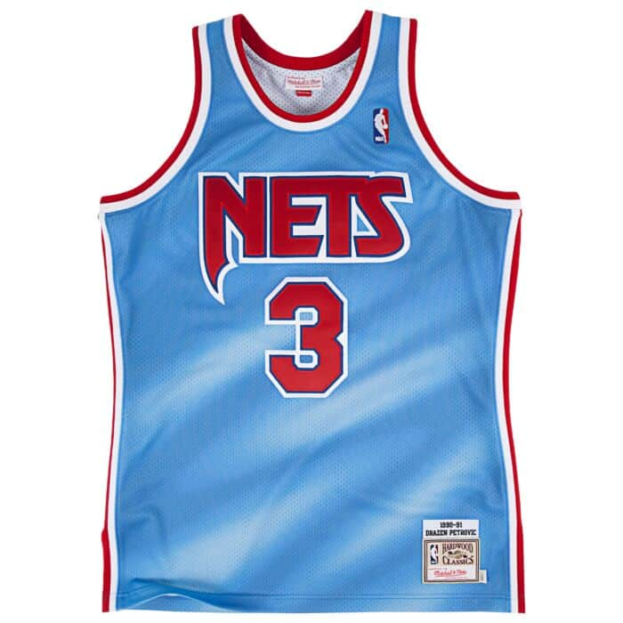 new arrival 50269 47cce Drazen Petrovic 1990-91 Authentic Jersey New Jersey Nets