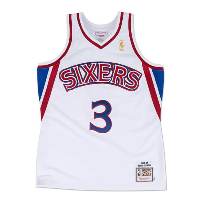 online store ae9c0 1cdfd Allen Iverson 1996-97 Authentic Jersey Philadelphia 76ers