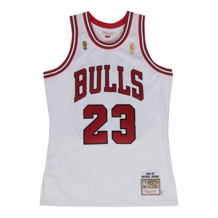 new styles bcb6d 4cb23 Michael Jordan 1996-97 Authentic Jersey Chicago Bulls ...