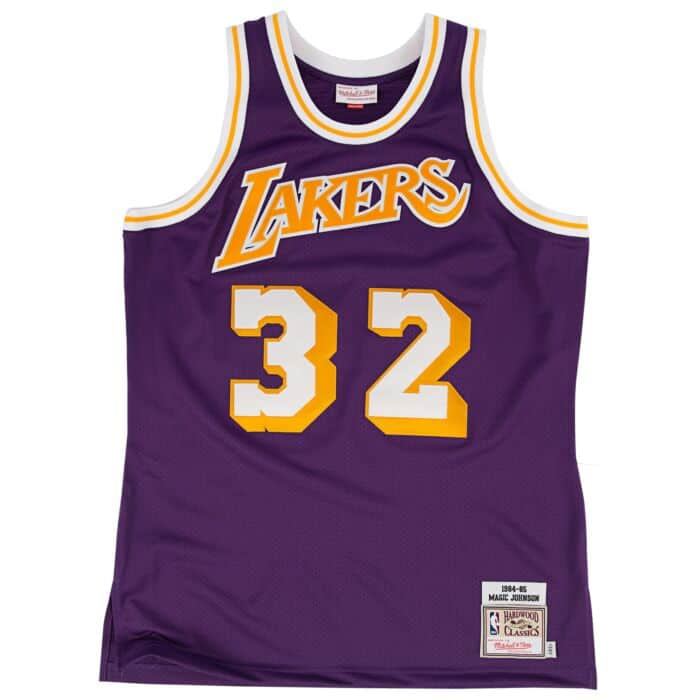 best sneakers 8cc23 5a65c Magic Johnson 1984-85 Authentic Jersey Los Angeles Lakers