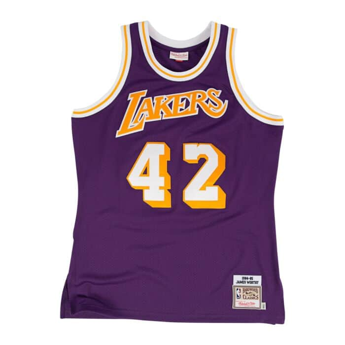 sports shoes f8708 daefb James Worthy 1984-85 Authentic Jersey Los Angeles Lakers ...