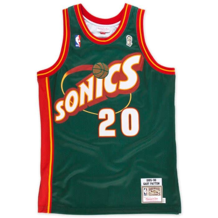 wholesale dealer e22d5 56762 Gary Payton 1995-96 Authentic Jersey Seattle SuperSonics ...