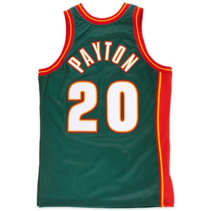 wholesale dealer e44e7 68b1f Gary Payton 1995-96 Authentic Jersey Seattle SuperSonics ...