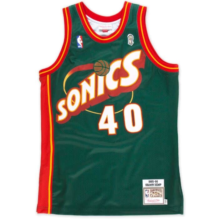 separation shoes 90550 07f49 Shawn Kemp 1995-96 Authentic Jersey Seattle SuperSonics