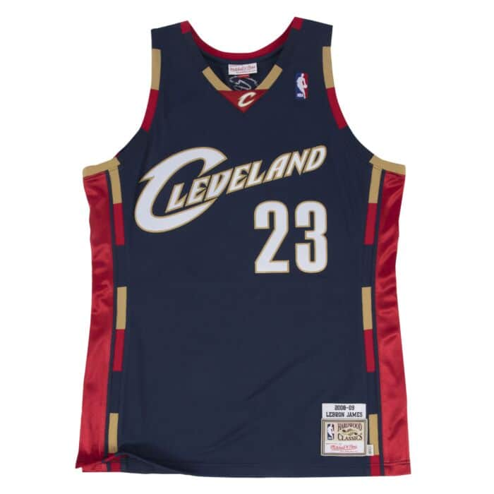 best loved fe736 d6e05 LeBron James Authentic Jersey 2008-09 Cleveland Cavaliers