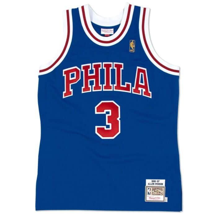 online store cae68 afa60 Allen Iverson 1996-97 Authentic Jersey Philadelphia 76ers