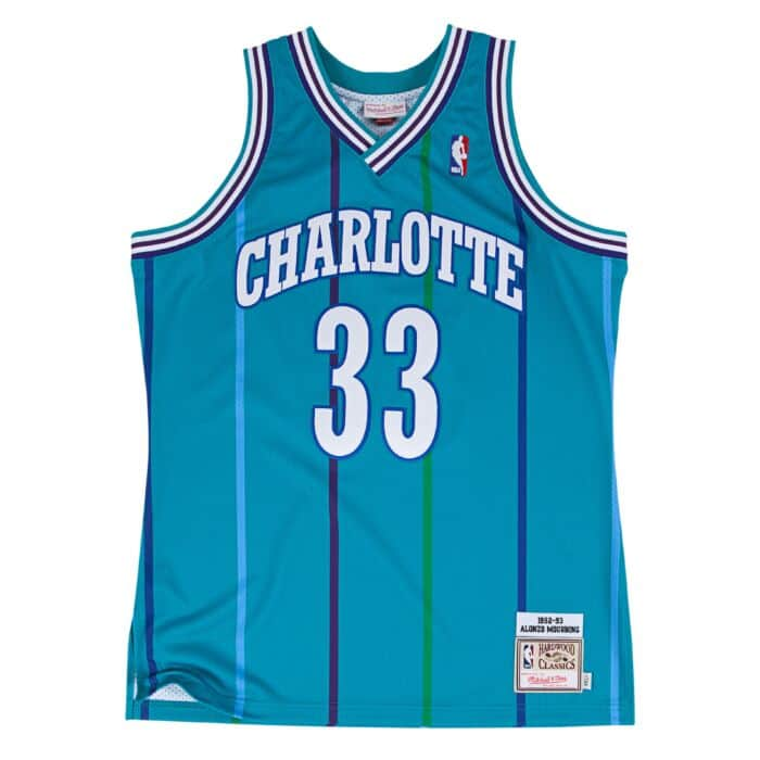 new arrival e7ff6 4c770 Alonzo Mourning 1992-93 Authentic Jersey Charlotte Hornets