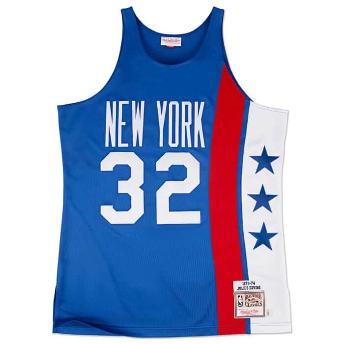 buy online dbea5 b189a Julius Erving 1973-74 Authentic Jersey New York Nets