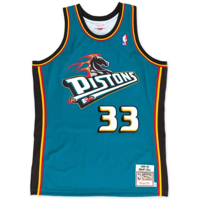 finest selection 9d9a0 a3480 Grant Hill 1998-99 Authentic Jersey Detroit Pistons