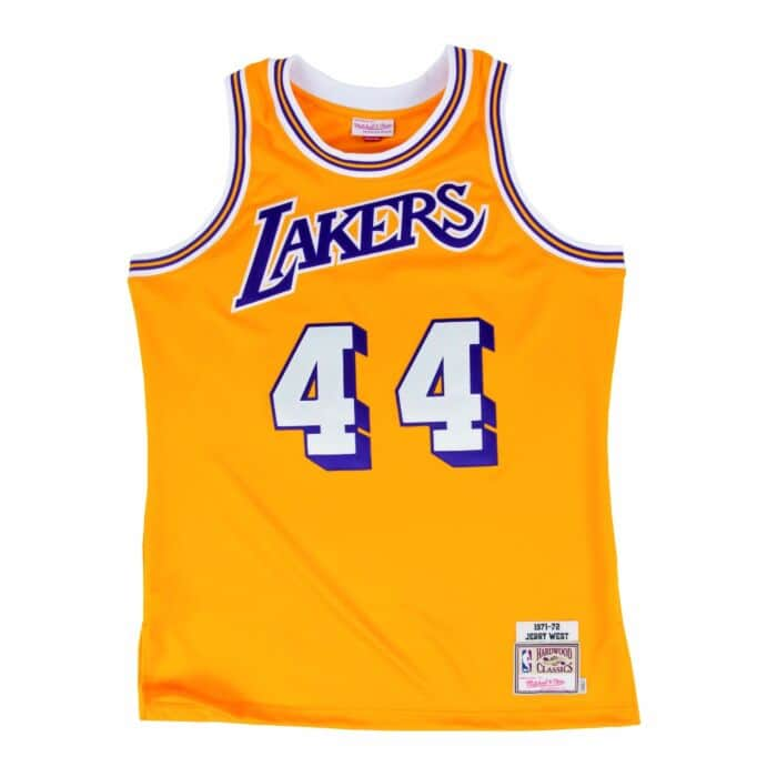 separation shoes 65fcf 9472c Jerry West 1971 Authentic Jersey Los Angeles Lakers