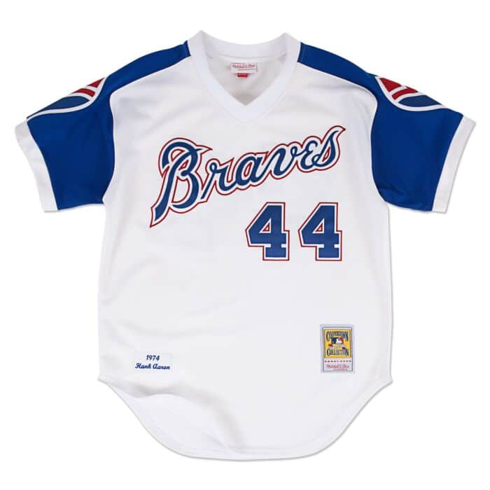 reputable site 7f7fd 1e07b Hank Aaron 1974 Authentic Jersey Atlanta Braves