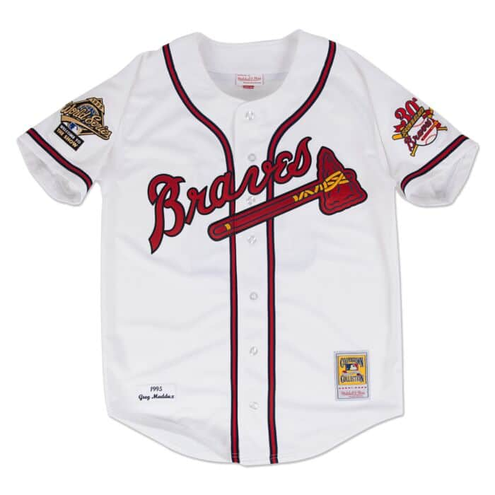first rate 614a1 93910 Greg Maddux 1995 Authentic Jersey Atlanta Braves
