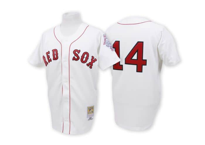 sale retailer f9b7f b8364 Jim Rice 1987 Authentic Jersey Boston Red Sox Mitchell ...