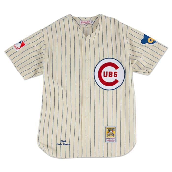 quality design 14a78 f5a6e Ernie Banks 1969 Authentic Jersey Chicago Cubs