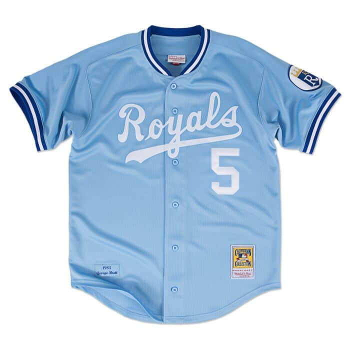 check out 2eba1 55060 George Brett 1985 Authentic Jersey Kansas City Royals ...