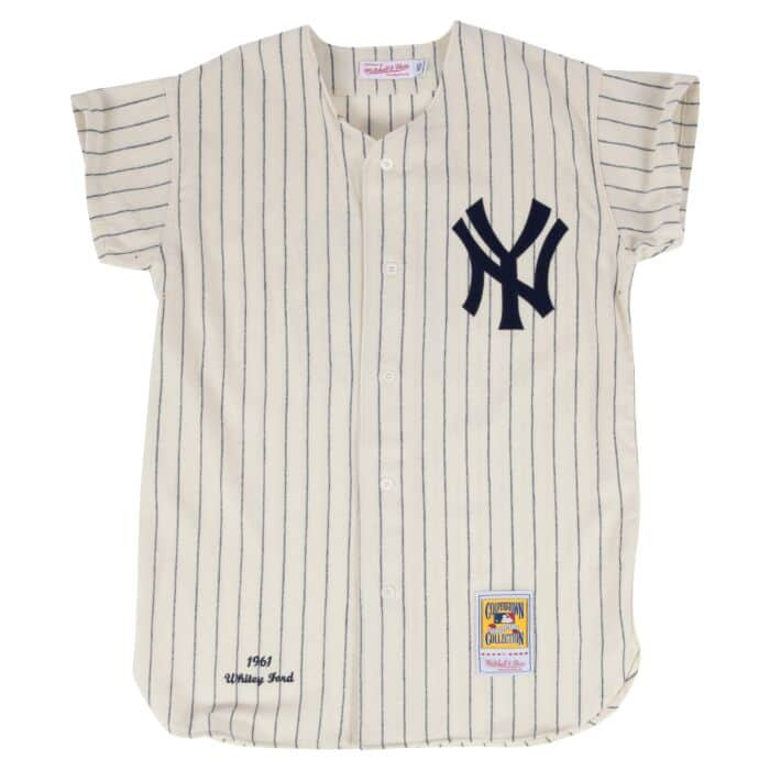 finest selection 2d9f3 d24a0 Whitey Ford 1961 Authentic Jersey New York Yankees