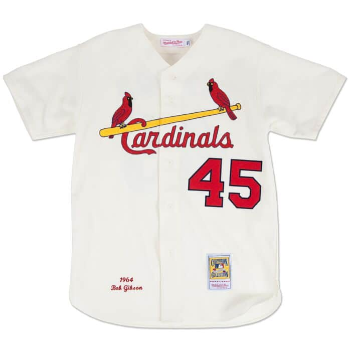 new products 18092 01ff7 Bob Gibson 1964 Authentic Jersey St. Louis Cardinals