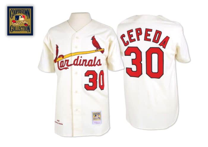 the latest 6af26 fc75e Orlando Cepeda 1967 Authentic Jersey St. Louis Cardinals