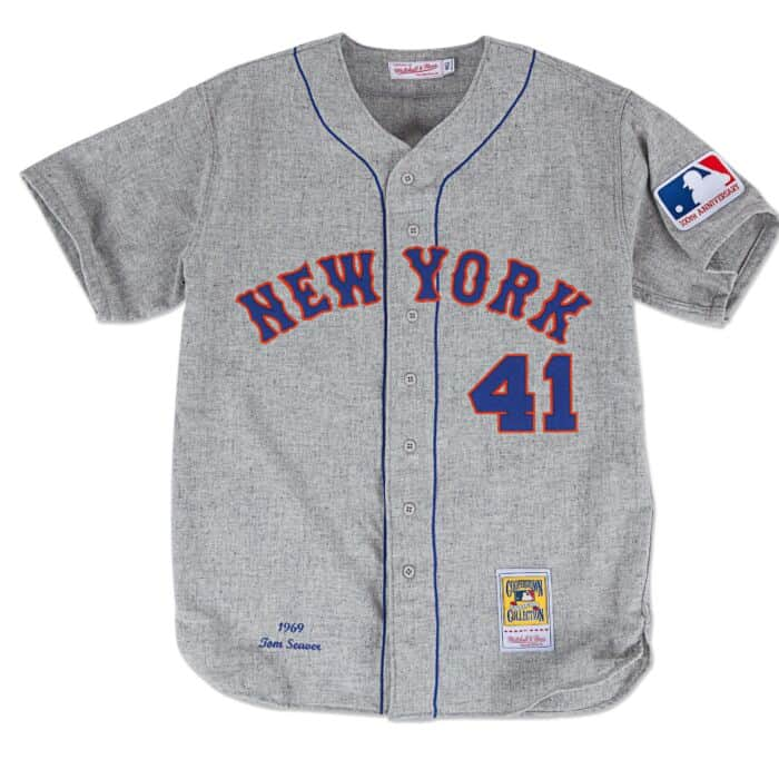 big sale 11eaa e35d8 Tom Seaver 1969 Authentic Jersey New York Mets Mitchell ...
