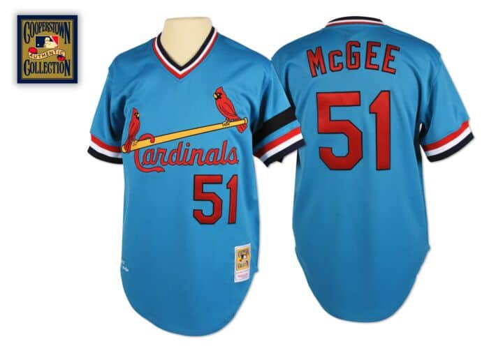 newest 3e9fc 6d08e Willie McGee 1982 Authentic Jersey St. Louis Cardinals