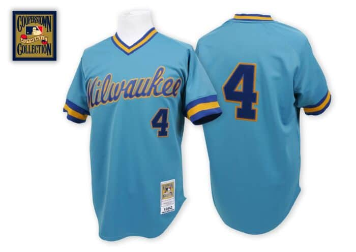 half off 517f5 b6a6e Paul Molitor 1982 Authentic Jersey Milwaukee Brewers ...