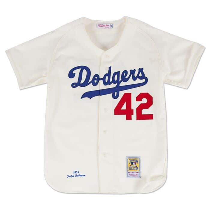 best sneakers c71b8 0df91 Jackie Robinson 1955 Authentic Jersey Brooklyn Dodgers ...