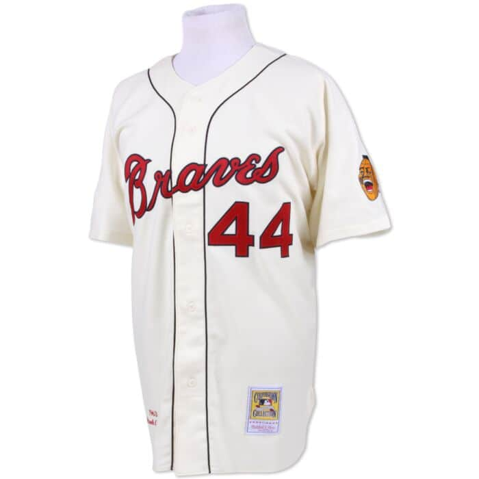 timeless design 021a2 70d76 Hank Aaron 1963 Authentic Jersey Milwaukee Braves
