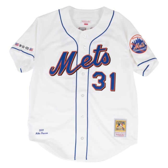 reputable site 35842 fb0ba Mike Piazza Authentic Jersey 2001 New York Mets